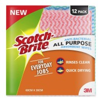 Scotch-Brite Anti-Bacterial All Purpose Absorbent Wipe 12 Pack