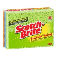 Scotch-Brite Antibacterial Thick Large Sponge 3 Pack