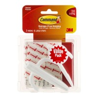 Command Hook 17003-3 Large White 3 Pack