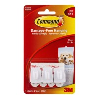 Command Hook 17066 Micro White 3 pack