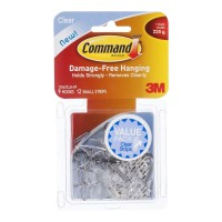 Command Hook 17067CLR-VP Small Clear Wire Utensil 9 Pack