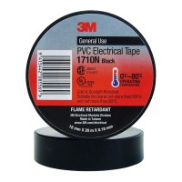 3M Electrical Tape 1710N-BL 18mm PVC - Black