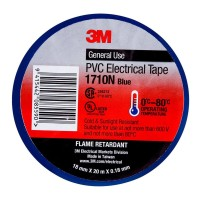 3M Electrical Tape 1710N-BU 18mm PVC - Blue