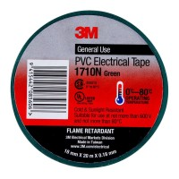 3M Electrical Tape 1710N-GR 18mm PVC - Green
