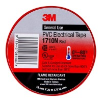 3M Electrical Tape 1710N-RE 18mm PVC - Red