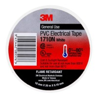 3M Electrical Tape 1710N-WH 18mm PVC - White