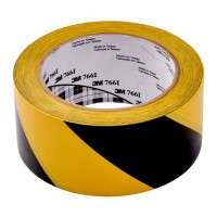 Scotch Hazard Warning Vinyl Tape 766 50mm x 33m Yellow/Black