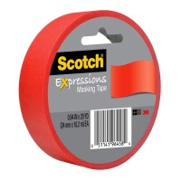 Scotch Expressions Masking Tape 3437-PRD-ESF 24mm x 18m Red