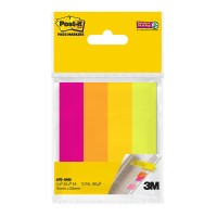 Post-it Super Sticky Page Markers 670-4AN Assorted Neon 15mm x 50mm
