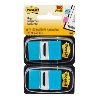 Post-it Flags 680-BB2 Twin Pack Bright Blue 25 x 43mm 100 Flags