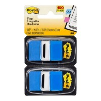 Post-it Flags 680-BE2 Twin Pack Blue 25x43mm 100 Total Pack