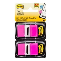 Post-it Flags 680-BP2 Twin Pack Bright Pink 25 x 43mm 100 Flags