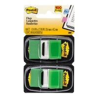 Post-it Flags 680-GN2 Twin Pack Green 25x43mm 100 Pack