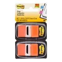 Post-it Flags 680-OE2 Twin Pack Orange 25x43mm 100 Pack