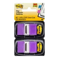 Post-it Flags 680-PU2 Twin Pack Purple 25x43mm 100 Pack