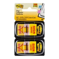 Post-it Flags 680-SH2 Sign Here 25x43mm 2 Pack