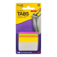 Post-it Durable Angled Filing Tab 686A-PLOY Pink Lime Orange Yellow