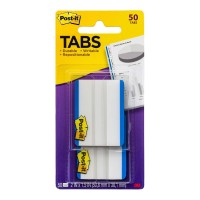 Post-it Durable Tabs 686-50BL Blue 50x38mm 50 Pack