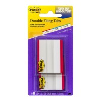 Post-it Durable Filing Tab 686F-50RD Red 50 Pack