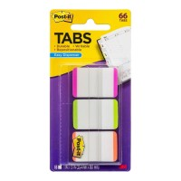 Post-it Durable Tabs 686L-PGO Pink Green Orange 25x38mm 66 Pack