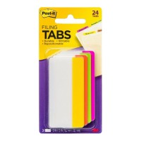 Post-it Durable Filing Tab 686-PLOY-3 4-Colour 76mm 24 Pack