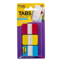 Post-it Durable Tabs 686-RYB Blue Red Yellow 25x38mm 66 Pack