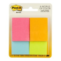 Post-it Notes 653-4AF Mini Page Markers 36x48mm 4 Pack