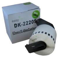 Compatible Brother DK22205 62mm x 30m Continuous Label