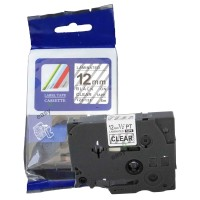 Compatible Brother TZE131 12mm Black on Clear Label Tape
