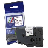 Compatible Brother TZE231 12mm Black on White Label Tape