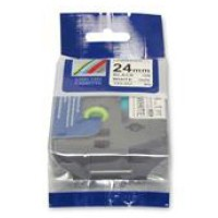 Compatible Brother TZE-251 24mm Black on White Label Tape