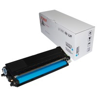 Compatible Brother TN348C Cyan Hi-Yield Toner Cartridge
