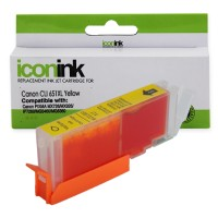 Compatible Canon CLi651XLY Yellow Ink Cartridge