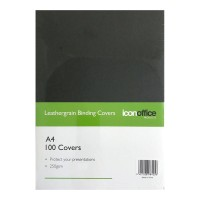 Icon Binding Covers A4 Black 250 gsm - 100 pack