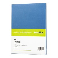 Icon Binding Covers A4 Blue 250 gsm - 100 pack