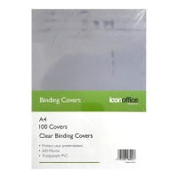 Icon Binding Covers A4 Clear 200 mic - 100 pack