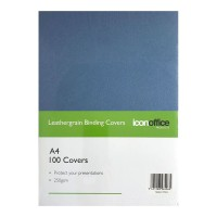 Icon Binding Covers A4 Navy 250 gsm - 100 pack