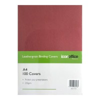 Icon Binding Covers A4 Red 250 gsm - 100 pack
