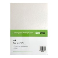 Icon Binding Covers A4 White 250 gsm - 100 pack