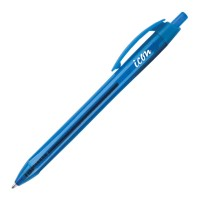 Icon Ballpoint Retractable Pen Triangular Medium Blue - 10 Pack