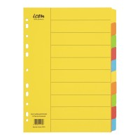 Icon Cardboard Dividers 10 Tab Coloured