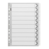 Icon Cardboard Dividers with Reinforced Tabs 10 Tab White
