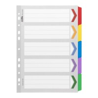 Icon Cardboard Dividers with Reinforced Tabs 5 Tab Coloured