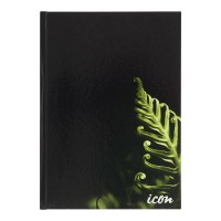Icon 3-Pack Casebound Hard Cover Notebook A4 Black 200 pg
