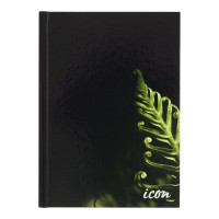 Icon Casebound Hard Cover Notebook A5 Black 200 pg
