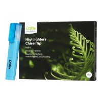 Icon Highlighter Chisel Tip Blue - 6 Pack