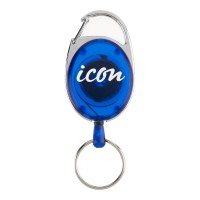 Icon Retractable Snap Lock Key and ID Card Holder Blue 50pk