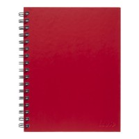 Icon Spiral Notebook A5 Hard Cover Red 200 pg 3pk