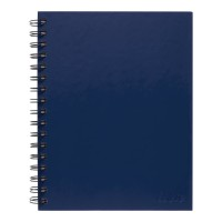 Icon Spiral Notebook A5 Hard Cover Blue 200 pg 3pk