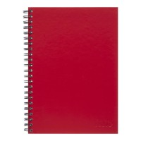 Icon Spiral Notebook A4 Hard Cover Red 200 pg 3pk